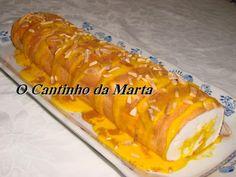 O Cantinho da Marta: Torta de Claras com Doce de Ovos