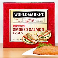 World Market® Classic Smoked Alaskan Salmon is prepared with precision to bring out a medley of irresistible flavors. Caught wild in the icy, pristine waters of Alaska, each fillet is selected with care and slowly cured in savory brine before being lightly smoked over native Alaskan Alder wood. The result? A truly remarkable taste experience. And because it can be stored at room temperature or below, it can be enjoyed any time, anywhere!