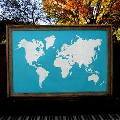 World Map Ocean by Kyle & Courtney Harmon