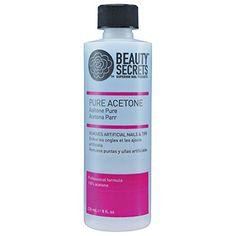 Beauty Secrets Pure Acetone 8 oz. - http://buyonlinemakeup.com/beauty-secrets/8-oz-pure-acetone-manicurist-solvent
