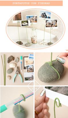 DIY Stone Photo Holder