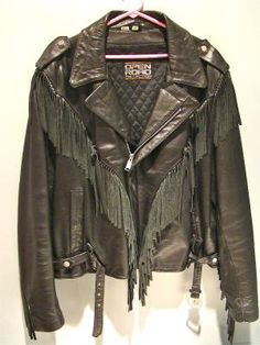 Vintage Leather Jacket With Fringe $120 - I can almost see it on Tom Cruise in Rock of Ages