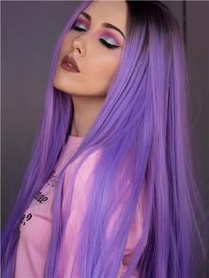Wig Type: Synthetic Lace Front Wig Materials: Heat Resistance Silk Hair Length: 24 Inch Hair Color: Lavender Purple Ombre Hair Texture: Straight Hair Density: 150% Heavy Hairline: Natural Hairline Lace Color: Light Brown Lace Material: Swiss Lace Cap Size: Average Cap Construction: Glueless Lace Cap