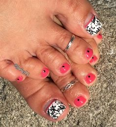 Spring Melon Pedicure by Jgchef13 from Nail Art Gallery