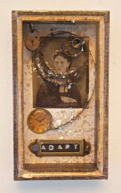 TINY DELICACIES 2 - Assemblage  by Rosemarie Hughes