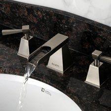 Waterfall Double Handle Widespread Bathroom Faucet