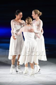 Mao Asada, Carolina Kostner and Joannie Rochette