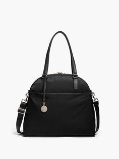 The O.G. - Overnight Bag - Designed by Lo & Sons #loandsons -- BLACK EXTERIOR / LIGHT GOLD HARDWARE / CAMEL INTERIOR / BLACK HANDLES