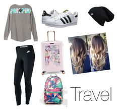 Travel by ladyleahvine on Polyvore featuring polyvore, NIKE, adidas Originals, Ted Baker, adidas, fashion, style and clothing