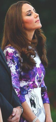 In Prabal Gurung. Kate, Duchess of Cambridge at State Dinner hosted by President of Singapore. September 11, 2012.