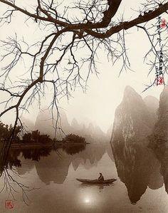 Exquisite Landscape Photographs ~ By Photographer Don Hong-Oai Zen Painting, Chinese Painting, Pintura Zen, Raindrops And Roses, Art Asiatique, Chinese Landscape, Art Japonais, China Art, China China
