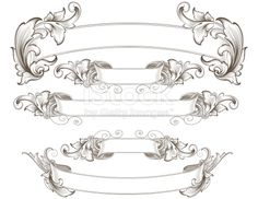 Designed by a hand engraver. Detailed leafy banners with copy space feature authentic hand engraved designs. Change color and scale easily with the enclosed EPS and AI files. Also includes hi-res JPG.