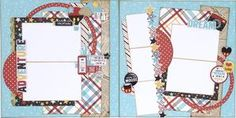 Disney themed scrapbook layout. Scrapbooking layout for Disneyland, mickey mouse, and goofy photos.