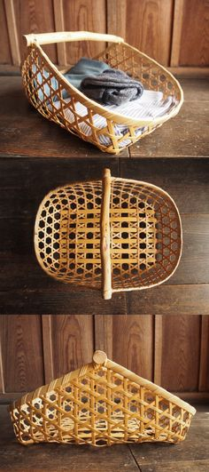 Willow Weaving, Bamboo Weaving, Weaving Art, Weaving Patterns, Basket Weaving, Plant Basket, Bamboo Basket, Rattan Basket, Bamboo Art