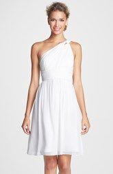 Donna Morgan 'Rhea' One-Shoulder Chiffon Dress (Regular & Plus)