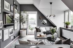 Светлая квартира под крышей в Гетеборге (69 кв. м) | Пуфик - блог о дизайне интерьера