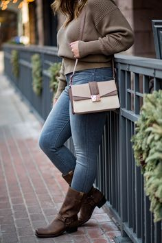 Rae Everyday| Winter Casual, Free People Sweater and Classic Frye Boots