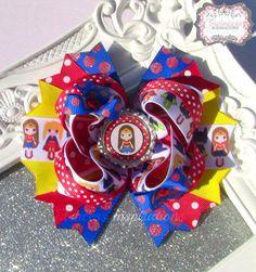 Super Hero Girls Boutique Hair Bow Wonder by TwincessInspirations, $13.00