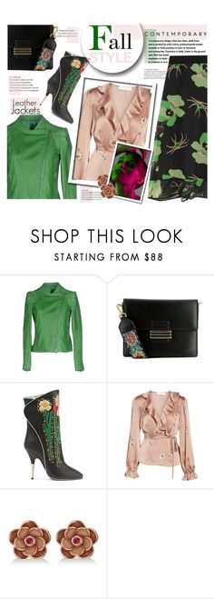 """Fall Style - leather jackets"" by sara-cdth ❤ liked on Polyvore featuring Street Leathers, Etro, Gucci, Astr, Allurez and THVM"