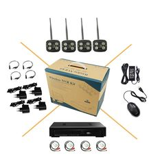 275.46$  Buy here - http://alimva.worldwells.pw/go.php?t=32665539981 - wifi audio 1080P 2.0MP HD IP network camera P2P microphone night vision outdoor waterproof NVR Security Kit 275.46$