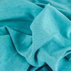 Lightweight Melange Cotton Jersey - Turquoise | buy in-store and online from Ray Stitch