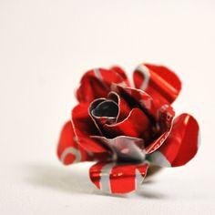 Gerecycled sieraden cokes Rose gelijkspel Tack van door wearwolf