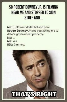 Robert Downey Jr is awesome.