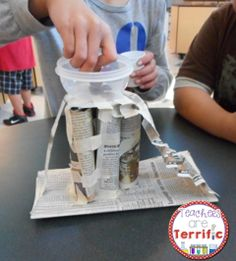Building platforms out of two supplies! Fantastic STEM Challenge! #STEM #Engineering #teacherspayteachers