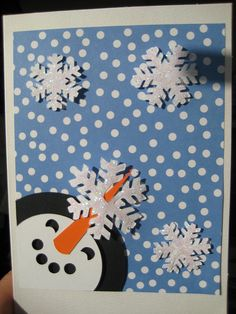 snow and snowman card