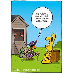 #ruthe #cartoon #ostern #hase by ruthe_offiziell