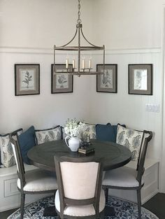 Kitchen Nook Lighting. Kitchen breakfast nook lighting. Kitchen Nook Lighting Ideas. Kitchen nook lighting is Park Hill #KitchenNookLighting #BreakfastNookLighting #NookLighting #Lighting Beautiful Homes of Instagram @SanctuaryHomeDecor