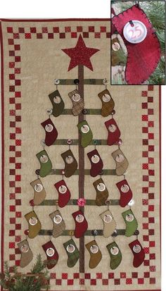 Stocking Tree, We could do this as a count down to Christmas!