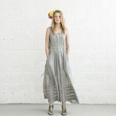 Sheer Maxi Dress Light Grey . от naftul на Etsy