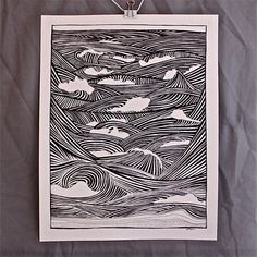 The Grotto - Great Ocean Road, Victoria Ocean Drawing, Wave Drawing, Drawing Journal, Bristol Board, Muse Art, Teaching Art, Op Art, Textures Patterns, Illustration Art