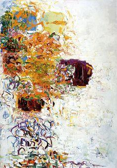 Joan Mitchell - Sunflower III, 1969 love her stuff so much Joan Mitchell, Willem De Kooning, Jackson Pollock, Franz Kline, Women Artist, Robert Motherwell, Van Gogh Art, Picasso Paintings, Abstract Paintings