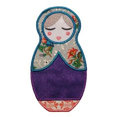 """Anoushka Babushka Doll Appliques Machine Embroidery Designs Applique Patterns in 4 sizes 4"""", 5"""", 6"""" and 7"""""""