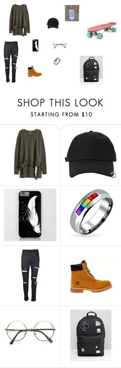 """""""Penny Boarding"""" by juniehwa ❤ liked on Polyvore featuring StyleNanda, Bling Jewelry, Timberland, Spiral, men's fashion and menswear"""