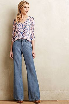 Level 99 Chambray Wide-Legs - love the style, but like darker jeans.