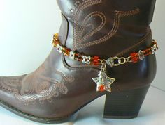 Boot Jewelry Anklet Cowgirl Jewelry. $35.00, via Etsy.