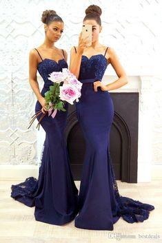 05fdba4c8 Las 54 mejores imágenes de Vestidos De Dama De Honor En Azul Marino ...