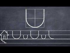 Ismerkedés a betűelemekkel: az alsó csészevonal vázolása. - YouTube
