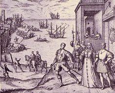 Embarquement de Christophe Colomb, à Palos.