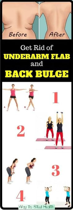 4 Quick Exercises to Get Rid of Underarm Flab and Back Bulge in 3 Weeks by beulah