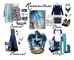 """""""Different Ravenclaw Outfits 2"""" by pie-epic ❤ liked on Polyvore featuring Chicwish, Ippolita, Theia, Dolce&Gabbana, Gemco, MIANSAI, Steve Madden, Ivanka Trump, Loeffler Randall and Lord & Taylor"""