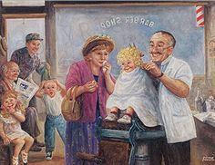 illustration de dianne dengel - Page 2 Art And Illustration, The Finest Hours, Most Famous Paintings, Popular Artists, Gif Animé, Pictures To Paint, American Artists, Barber Shop, Art For Sale