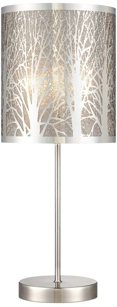 """Cut-Out Steel Tree Pattern 19 1/2"""" High Accent Table Lamp 