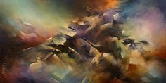 Abstract Painting - The Edge by Michael Lang