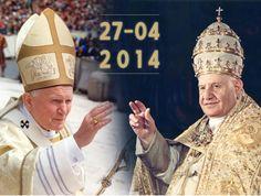 Santos!!! St. John Paul ll and St. John XXlll.