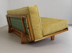 Museum Piece Sit Sleep Couch by Van Sliedregt for UMS Pastoe, 1953 | From a unique collection of antique and modern day beds at https://www.1stdibs.com/furniture/seating/day-beds/