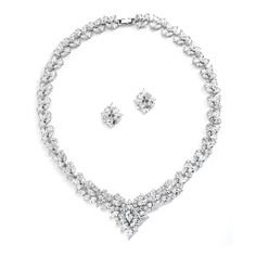Regal Marquise CZ Jewelry Set by Mariell - Affordable Elegance Bridal -